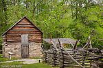 The Pioneer Farmstead at Oconaluftee, Great Smoky Mountains National Park, NC, USA