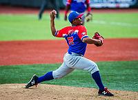 Luis Cruz pitcher de Puerto Rico. <br /> .<br /> Partido de beisbol de la Serie del Caribe con el encuentro entre Caribes de Anzo&aacute;tegui de Venezuela  contra los Criollos de Caguas de Puerto Rico en estadio Panamericano en Guadalajara, M&eacute;xico,  s&aacute;bado 5 feb 2018. <br /> (Foto: Luis Gutierrez)<br /> <br /> Baseball game of the Caribbean Series with the match between Caribes de Anzo&aacute;tegui of Venezuela against the Criollos de Caguas of Puerto Rico, at the Pan American Stadium in Guadalajara, Mexico, Saturday, February 5, 2018.<br /> (Photo: Luis Gutierrez)