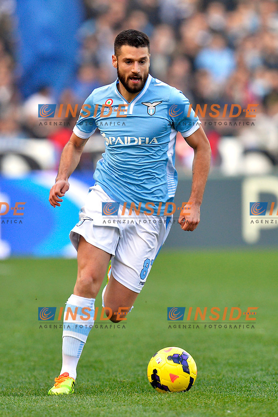 Antonio Candreva Lazio <br /> Roma 09-02-2014 Stadio Olimpico - Football Calcio Serie A 2013/2014 Lazio - As Roma Foto Andrea Staccioli / Insidefoto