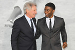 "Harrison Ford, Chadwick Boseman. Los Angeles premiere of Warner Bros. Pictures' and Legendary Pictures' ""42,"" at TCL Chinese Theater. Hollywood, CA USA. April 9, 2013.©CelphImage"