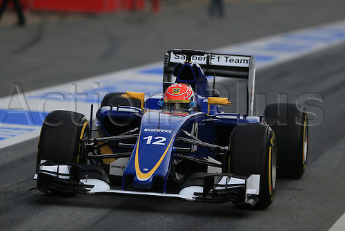 25.02.2016. Circuit de Catalunya, Barcelona, Spain. Day 4 of the Spring F1 testing and new car unvieling for 2016-17 season.  Sauber F1 Team C34 – Felipe Nasr