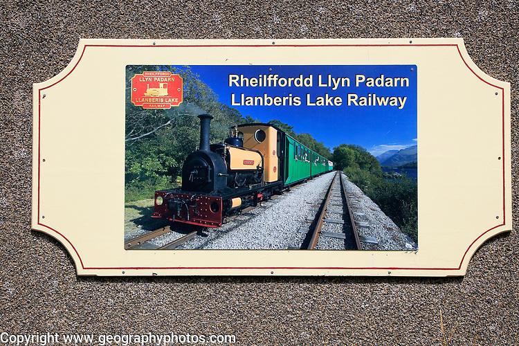 Llanberis lake railway, Rheilffordd Lllyn Padarn,  Gwynedd, Snowdonia, north Wales, UK