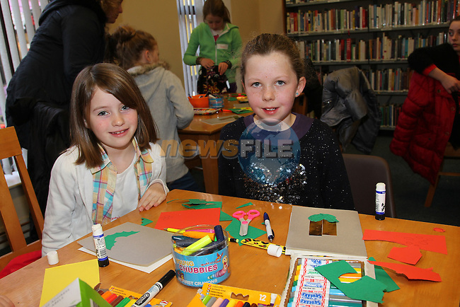 Sophie grey rose Kelly .at the card making in the library..Picture: Fran Caffrey/www.newsfile.ie.