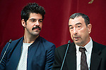 "Miguel Angel Muñoz and Jose Luis Garci during the presentation of the new production of the Spanish Theater ""Arte Nuevo""  at spanish theater in Madrid, February 16, 2016<br /> (ALTERPHOTOS/BorjaB.Hojas)"
