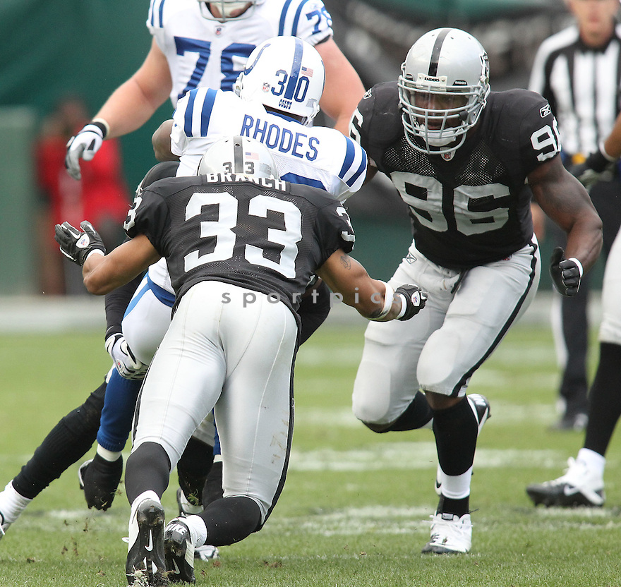 KAMERION WIMBLEY, of the Oakland Raiders in action durIng the Raiders game against the Indianapolis Colts at Oakland-Alameda County Coliseum in Oakland, California on December 26, 2010...Colts beat the Raiders 31-26