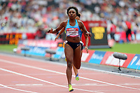 Rosangela Cristina Oliveira Santos of Brazil competes in the womenís 100 metres  during the Muller Anniversary Games at The London Stadium on 9th July 2017