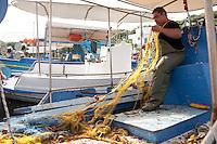 Fisherman, Skala Skamnias, Lesbos, Greece