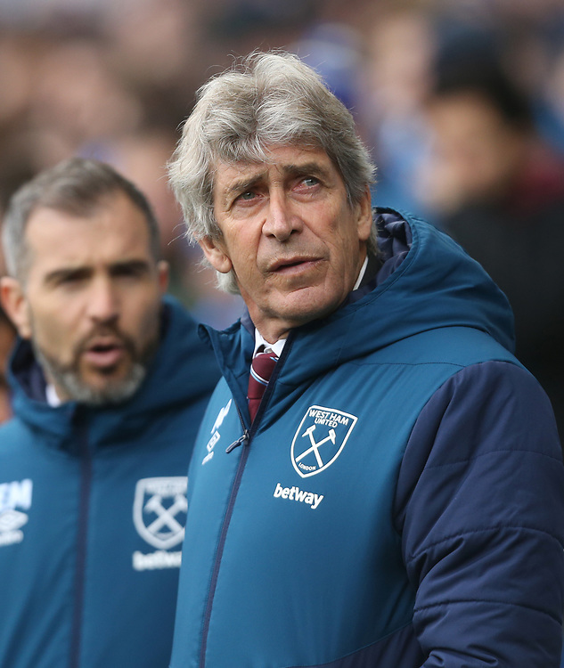 West Ham United manager Manuel Pellegrini <br /> <br /> Photographer Rob Newell/CameraSport<br /> <br /> The Premier League - Cardiff City v West Ham United - Saturday 9th March 2019 - Cardiff City Stadium, Cardiff<br /> <br /> World Copyright © 2019 CameraSport. All rights reserved. 43 Linden Ave. Countesthorpe. Leicester. England. LE8 5PG - Tel: +44 (0) 116 277 4147 - admin@camerasport.com - www.camerasport.com