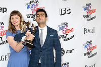 LOS ANGELES - MAR 3:  Emily V Gordon, Kumail Nanjiani_ at the 2018 Film Independent Spirit Awards at the Beach on March 3, 2018 in Santa Monica, CA