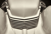 Close up of 1937 Cord, Model 812 s/c Westchester. Wilsonville, Oregon