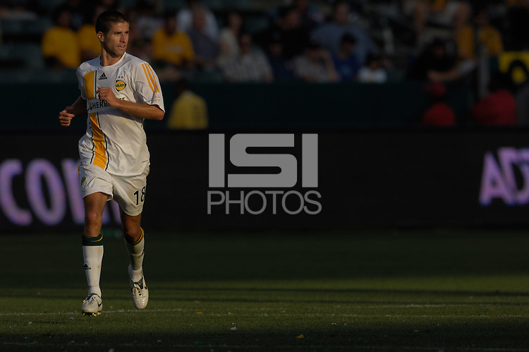 Kyle Martino jogs upfield. The Los Angeles Galaxy defeated Real Salt Lake, 3-2, at the Home Depot Center in Carson, CA on Sunday, June 17, 2007.