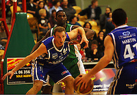 Nick Horvath waits for a pass from Luke Martin during the NBL Round 14 match between the Manawatu Jets  and Wellington Saints. Arena Manawatu, Palmerston North, New Zealand on Saturday 31 May 2008. Photo: Dave Lintott / lintottphoto.co.nz