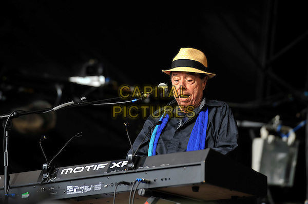 Sergio Mendes <br /> Glastonbury Festival, Worthy Farm, Pilton, Somerset, England 30th June 2013<br /> performing in concert gig live on stage<br /> CAP/MAR<br /> &copy; Martin Harris/Capital Pictures