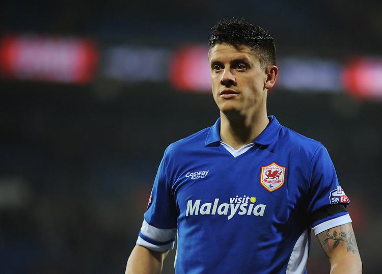 Cardiff City's Alex Revell in action during todays match  <br /> <br /> Photographer Kevin Barnes/CameraSport<br /> <br /> Football - The Football League Sky Bet Championship - Cardiff v Bournemouth - Tuesday 17th March 2015 - Cardiff City Stadium - Cardiff<br /> <br /> &copy; CameraSport - 43 Linden Ave. Countesthorpe. Leicester. England. LE8 5PG - Tel: +44 (0) 116 277 4147 - admin@camerasport.com - www.camerasport.com