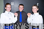3HAND REEL;Edel Quinn, Daniel Houlihan and Saoirse O'Carroll from John Stack Dancing school, Ballydonoghue, in rehearsals for their 3hand reel set on Friday night in the Ceili? Dancing at Causeway Comprehensive School, De hAoine 27u? Bealtaine 2011.  ...