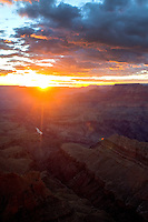 Aug. 22, 2014; GRAND CANYON, AZ, USA; General view from the south rim of the Grand Canyon at sunset in northern Arizona. The canyon has been formed over millions of years by the Colorado River cutting its way through the desert. Mandatory Credit: Mark J. Rebilas