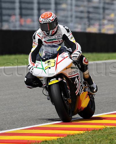 06 06 2010 Simone Corsi ITA Motobi. Moto2 class, 600cc spec Honda eninges in prototype chassis. Gran Premio d'Italia TIM, Mugello circuit, Italy.