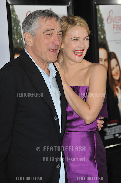 "Drew Barrymore & Robert De Niro at the world premiere of their new movie ""Everybody's Fine"" - part of the AFI Fest 2009 - at Grauman's Chinese Theatre, Hollywood..November 3, 2009  Los Angeles, CA.Picture: Paul Smith / Featureflash"