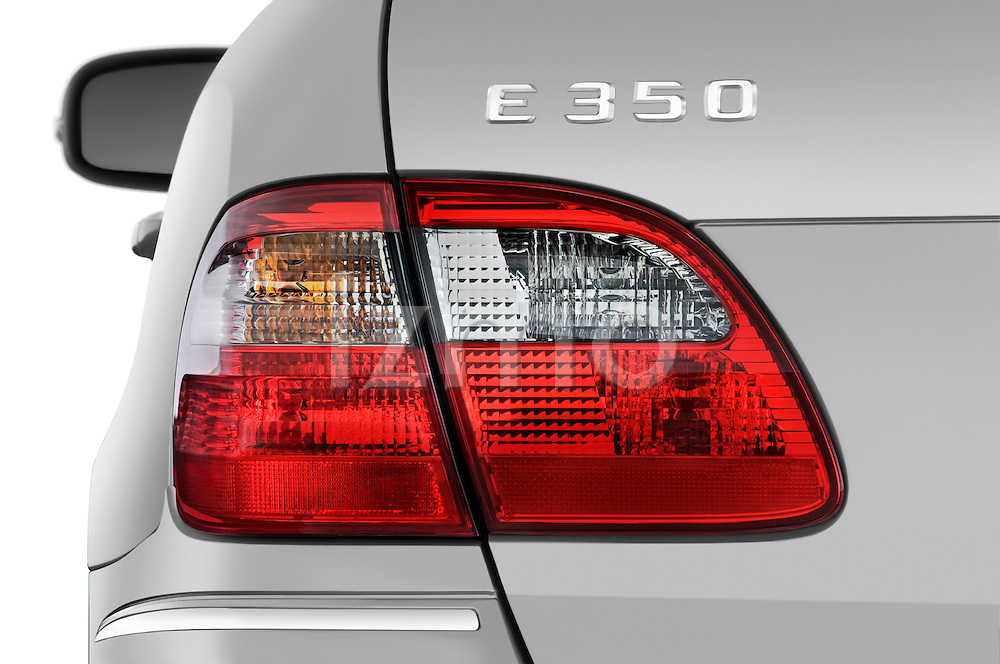 Tail light close up detail view of a 2009 Mercedes E Class Wagen 350