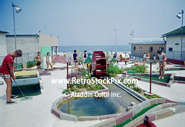 Mini Golf next To Atlantic Sands Motel in Rehoboth Beach, DE. 1960's