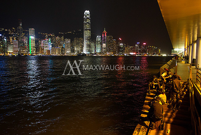 The Hong Kong skyline, as seen from Kowloon.