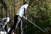 Edgewood's Grace Welch tees off on No. 10 during the Wisconsin WIAA state girls high school golf tournament on Monday, 10/14/19 at University Ridge Golf Course in Verona | Wisconsin State Journal article front page C1 Sports 10/15/19 and online at https://madison.com/wsj/sports/high-school/golf/wiaa-state-girls-golf-madison-edgewood-middleton-on-top-after/article_b145b80f-d9a4-5237-becb-4b3d6f222261.html