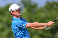 Zach Johnson (USA) watches his tee shot on 17 during Saturday's round 3 of the PGA Championship at the Quail Hollow Club in Charlotte, North Carolina. 8/12/2017.<br /> Picture: Golffile | Ken Murray<br /> <br /> <br /> All photo usage must carry mandatory copyright credit (&copy; Golffile | Ken Murray)
