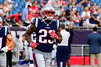 August 9, 2018: New England Patriots defensive back Patrick Chung (23) warms up prior to the NFL pre-season football game between the Washington Redskins and the New England Patriots at Gillette Stadium, in Foxborough, Massachusetts.The Patriots defeat the Redskins 26-17. Eric Canha/CSM