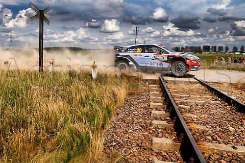 02.07.2016. Mikolajki, Poland. WRC Rally of Poland, stages 12-17.  Dani Sordo (ESP) – Marc Marti (ESP) - Hyundai i20 WRC