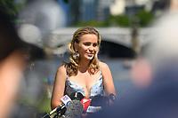 January 2, 2020: SOFIA KENIN (USA) speaks to the media as the Women's Singles champion of the Australian Open 2020 in Melbourne, Australia. Photo Sydney Low