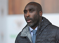 Macclesfield Town manager Sol Campbell <br /> <br /> Photographer Kevin Barnes/CameraSport<br /> <br /> The Carabao Cup First Round - Blackpool v Macclesfield Town - Tuesday 13th August 2019 - Bloomfield Road - Blackpool<br />  <br /> World Copyright © 2019 CameraSport. All rights reserved. 43 Linden Ave. Countesthorpe. Leicester. England. LE8 5PG - Tel: +44 (0) 116 277 4147 - admin@camerasport.com - www.camerasport.com