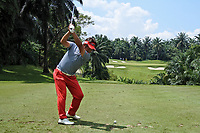Yuta Ikeda (JPN) in action on the 4th tee during Round 1 of the Maybank Championship at the Saujana Golf and Country Club in Kuala Lumpur on Thursday 1st February 2018.<br /> Picture:  Thos Caffrey / www.golffile.ie<br /> <br /> All photo usage must carry mandatory copyright credit (© Golffile | Thos Caffrey)