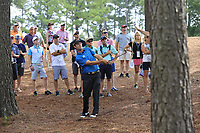 Robert Steb (USA) in the woods for his 2nd shot on the 1st hole during Saturday's Round 3 of the 2017 PGA Championship held at Quail Hollow Golf Club, Charlotte, North Carolina, USA. 12th August 2017.<br /> Picture: Eoin Clarke | Golffile<br /> <br /> <br /> All photos usage must carry mandatory copyright credit (&copy; Golffile | Eoin Clarke)