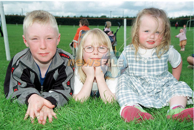 Adam, Laura and Carla walsh from Brookville at the Mell parish Sports day in Mell..Pic Fran Caffrey / Newsfile