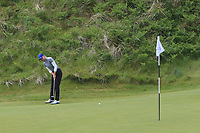 Daniella Barrett (FIN) on the 5th green during Matchplay Semi-Finals of the Women's Amateur Championship at Royal County Down Golf Club in Newcastle Co. Down on Saturday 15th June 2019.<br /> Picture:  Thos Caffrey / www.golffile.ie