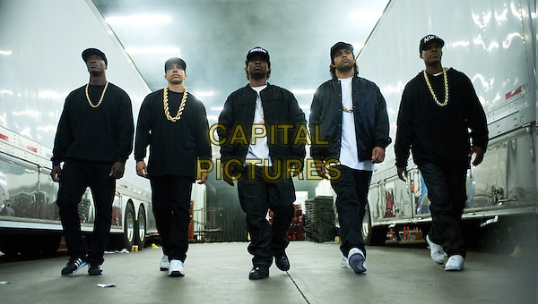 Straight Outta Compton (2015) <br /> Aldis Hodge, Corey Hawkins, Jason Mitchell, Neil Brown Jr., O&rsquo;Shea Jackson Jr.<br /> *Filmstill - Editorial Use Only*<br /> CAP/KFS<br /> Image supplied by Capital Pictures