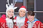 Aileen Fleming, Edel McMahon and Aideen O'Doherty Killarney at the Santa run in Killarney on Saturday