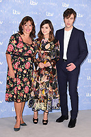 Daisy Goodwin, Jenna Coleman and Tom Hughes<br /> at the launch of the new series of ITV's &quot;Victoria&quot;, Ham Yard Hotel, London. <br /> <br /> <br /> &copy;Ash Knotek  D3297  24/08/2017