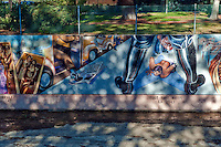 """Zoot Suit Riots"" Great Wall Mural, Los Angeles, CA, Tujunga Wash, Sub Watershed, LA River, San Fernando Valley, Los Angeles, CA"