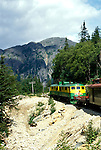 AK: Skagway, Alaska, White Pass Yukon Railroad     .Photo Copyright: Lee Foster, lee@fostertravel.com, www.fostertravel.com, (510) 549-2202.Image: akklon212