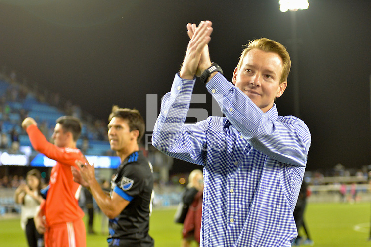 San Jose, CA - Monday July 10, 2017: Chris Leitch after a U.S. Open Cup quarterfinal match between the San Jose Earthquakes and the Los Angeles Galaxy at Avaya Stadium.