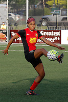 Rochester, NY - Friday May 27, 2016: Western New York Flash forward Jessica McDonald (14). The Western New York Flash defeated the Boston Breakers 4-0 during a regular season National Women's Soccer League (NWSL) match at Rochester Rhinos Stadium.