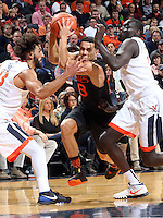 Miami guard Angel Rodriguez (13) during the game Tuesday, Jan. 12, 2016 in Charlottesville, Va. Virginia defeated Miami 66-58. Photo/Andrew Shurtleff