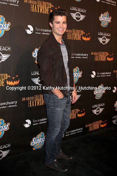LOS ANGELES - OCT 7:  Spencer Boldman arrives at the 4th Annual Los Angeles Haunted Hayride VIP Premiere Night at Griffith Park on October 7, 2012 in Los Angeles, CA