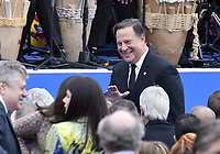 BOGOTÁ - COLOMBIA, 07-08-2018: Juan Carlos Varela, presidente de Panama, durante la ceremonia de juramento en donde Ivan Duque, toma posesión como presidente de la República de Colombia para el período constitucional 2018 - 22 en la Plaza Bolívar el 7 de agosto de 2018 en Bogotá, Colombia. / Juan Carlos Varela, president of Panama, during the swearing ceremony where Ivan Duque, takes office to constitutional term as president of the Republic of Colombia 2018 - 22 at Plaza Bolivar on August 7, 2018 in Bogota, Colombia. Photo: VizzorImage/ Gabriel Aponte / Staff