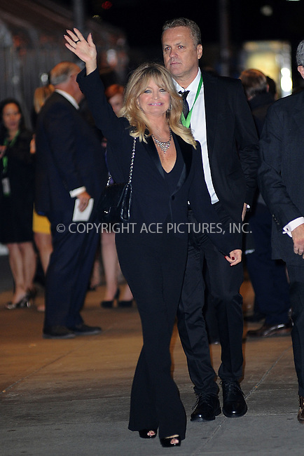 WWW.ACEPIXS.COM<br /> November 9, 2015 New York City<br /> <br /> Goldie Hawn is seen outside Carnegie Hall on November 9, 2015 in New York City.<br /> <br /> Credit: Kristin Callahan/ACE<br /> <br /> Tel: (646) 769 0430<br /> e-mail: info@acepixs.com<br /> web: http://www.acepixs.com