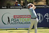 Sam Horsfield (ENG) in action on the 2nd during Round 3 of the ISPS Handa World Super 6 Perth at Lake Karrinyup Country Club on the Saturday 10th February 2018.<br /> Picture:  Thos Caffrey / www.golffile.ie<br /> <br /> All photo usage must carry mandatory copyright credit (&copy; Golffile | Thos Caffrey)