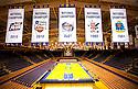 Duke men's basketball.  Five National Championship banners.<br /> <br /> (Jon Gardiner/Duke Photography)