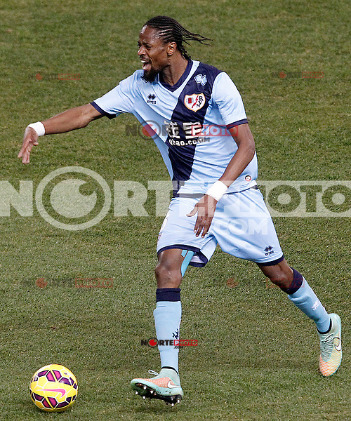 Rayo Vallecano's Abdoulaye Ba during La Liga match.January 24,2015. (ALTERPHOTOS/Acero) /NortePhoto<br /> NortePhoto.com