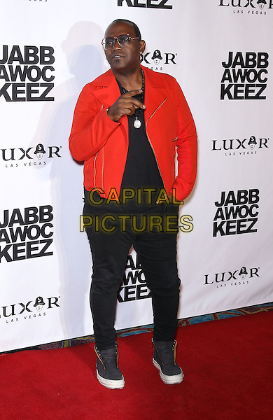 Randy Jackson<br /> Jabbawockeez dances into spotlight with grand opening of new show 'PRISM' at the Luxor Hotel and Casino', Las Vegas, NV, USA, <br /> 31st May 2013.<br /> full length red hand gesture sunglasses glasses black trousers trainers  <br /> CAP/ADM/MJT<br /> &copy; MJT/AdMedia/Capital Pictures